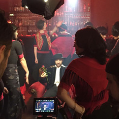 Filming 'Spanish Fitzroy' Music Video