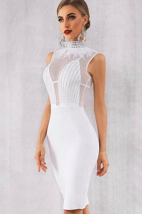 White Diamond Party Dress