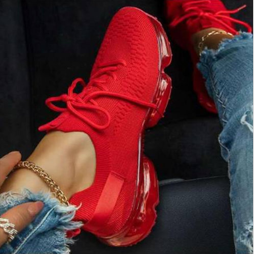 2021 Women Breathable Mesh Sneaker Woman Lace Up
