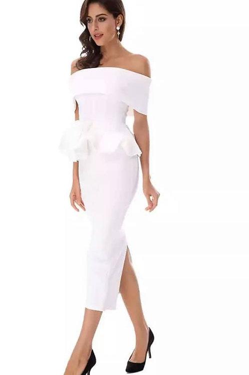2 Piece Off The Shoulder Dress.
