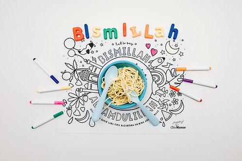 Bismillah Gratitude Color & Erase Placemat