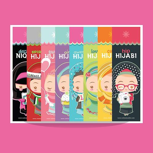 Hijabi Bookmarks - set of 8