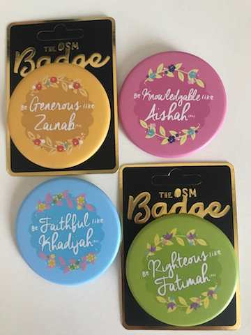 OSM Buttons -  Muslimah Role Model Series