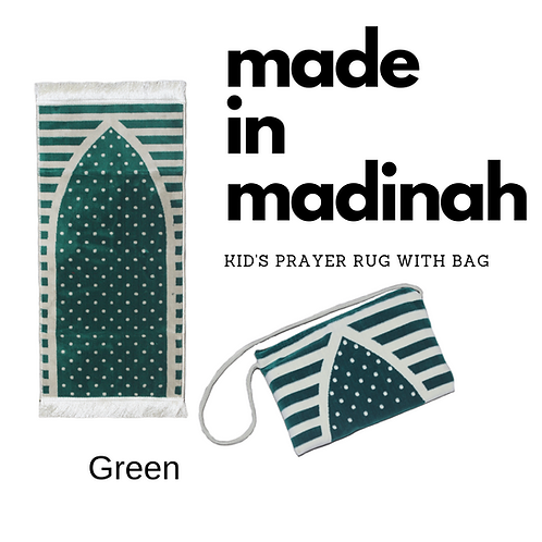 Madinah Kid's Prayer Rug with bag