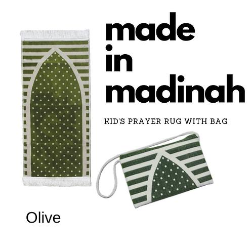 Madinah Kid's Prayer Rug with bag