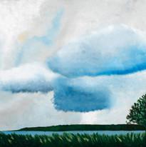 """Martin Saar """"Pärast vihmal"""" Õli lõuendil"""