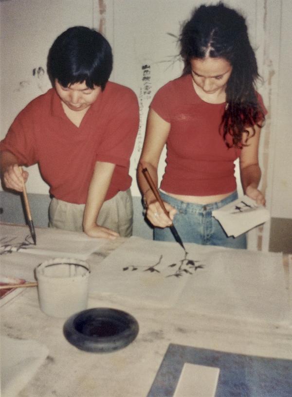 以色列學生學習中國繪畫,武林書畫院洞天閣,2002年