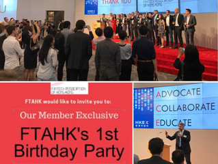 The Fintech Association of Hong Honk turned one