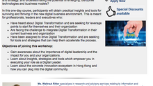 1 DAY SEMINAR: MANAGING DIGITAL BUSINESS TRANSFORMATION IN HONG KONG