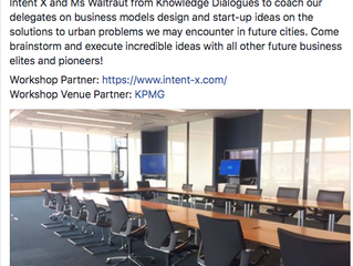 Design Thinking Workshop @ KPMG for THE FUTRE CITY SUMMIT 2017, Hong Kong