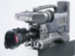 Hire old TV reporters shoulder mouted news camera