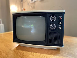 Hire Prop Vintage Black and White TV