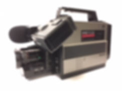 Hire old 1980's video VHS video camera, retro VHS camera hire, Vintage VHS cmacorder renta