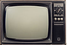 Hire Old fashion Television TV set