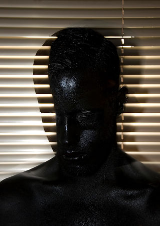 Feeling Blue - Black Face Paint - Body Paint - Abstract - Surreal - Naked - Male