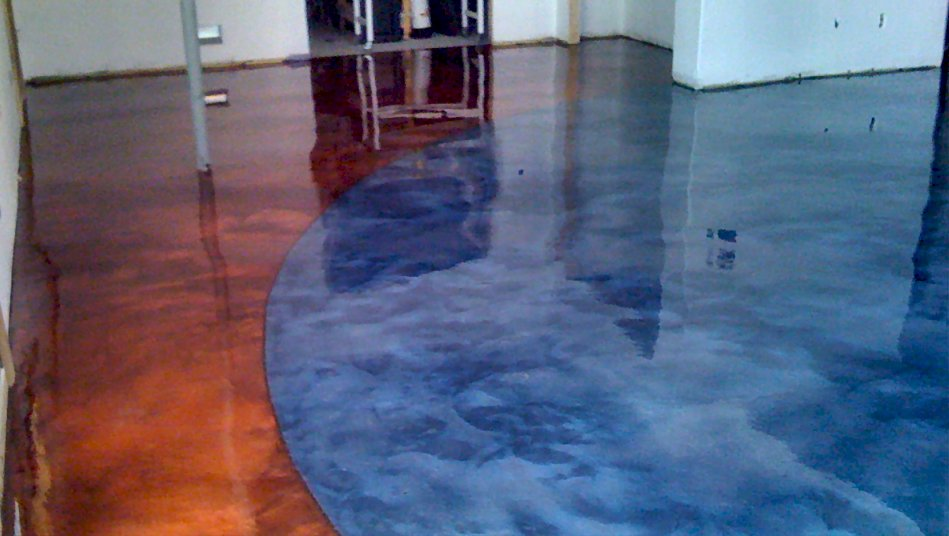 Elite Crete Systems Red and Blue Reflector basement custom seamless flooring (9)
