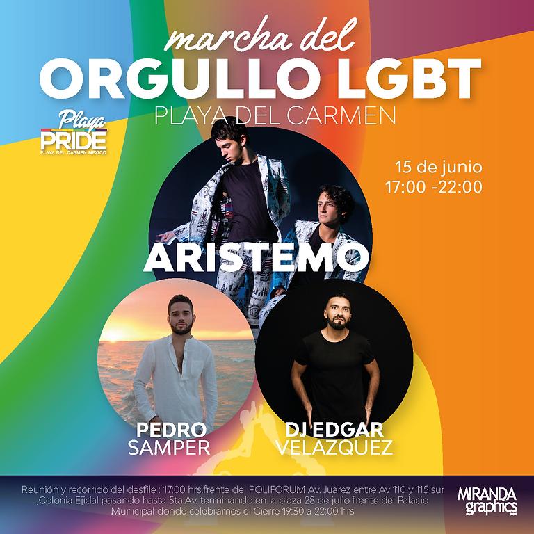 Cierre de la Marcha de Orgullo LGBT+
