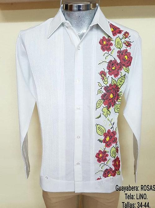Guayabera blanca con bordado