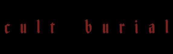 Cult Burial Logo (black background)