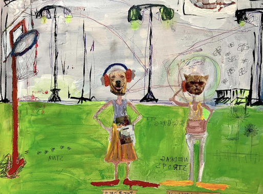 "Aces Art Exhibition: Mara Howes' ""Garden Party"""