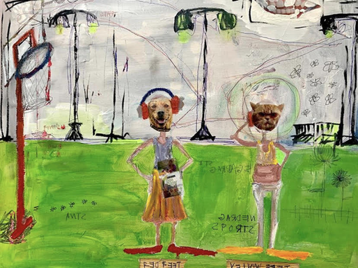 "Aces Art Exhibition: Mara Howes' ""Garden Party"""