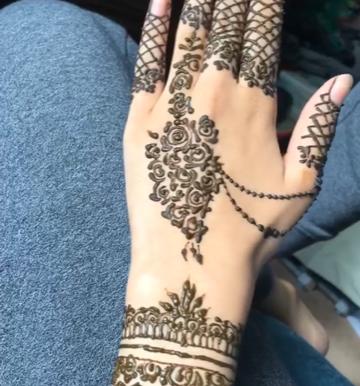 "Aces Art Exhibition: Zainab Khan's ""Floral Henna Design"""