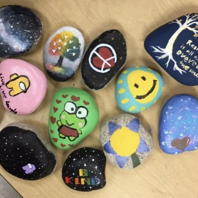 Ace's Art Exhibition: National Art Honors Society's #KindnessRocks Project