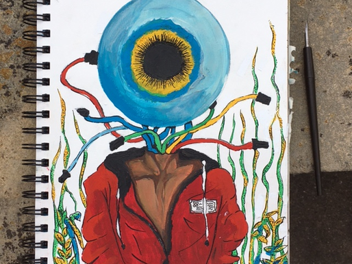 "Ace's Art Exhibition: Lisa Solomey's ""Eyeball Underwater"""