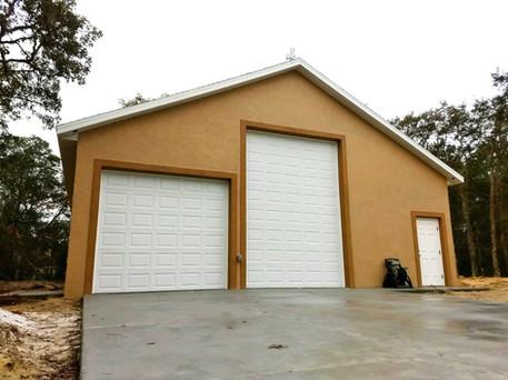 Large custom freestanding garage