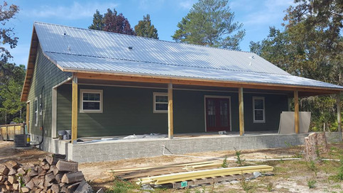 Custom home by Rise Construction with porch
