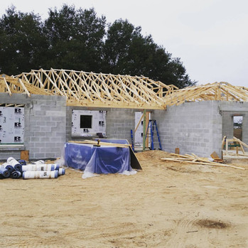 Custom home by Rise Construction in progress