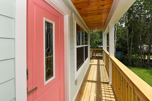Custom porch by Rise Construction