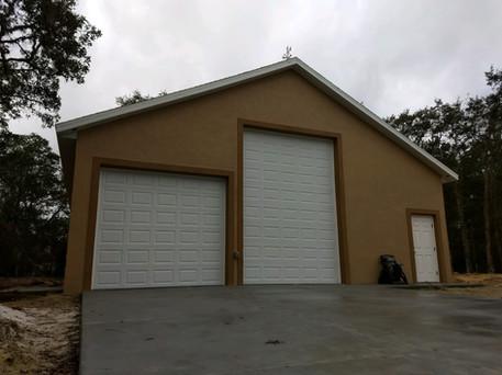 Large custom garage