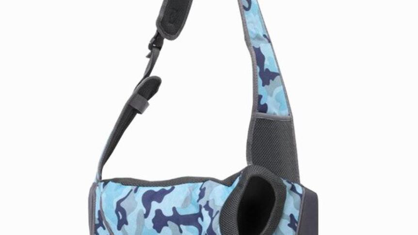 Sausage Dog Box Pet Sling Carrier - Blue Camouflage