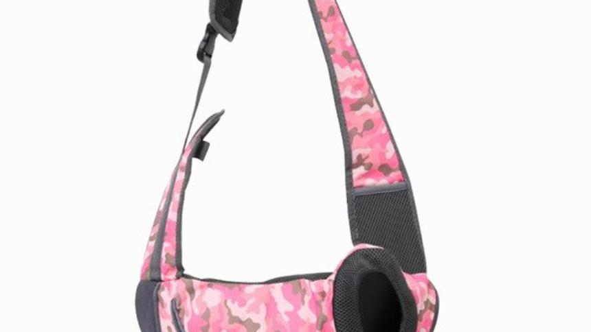 Sausage Dog Box Pet Sling Carrier - Pink Camouflage