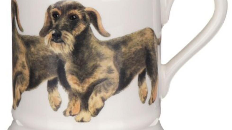 Sausage Dog Box Wire Haired Dachshund Half Pint Mug