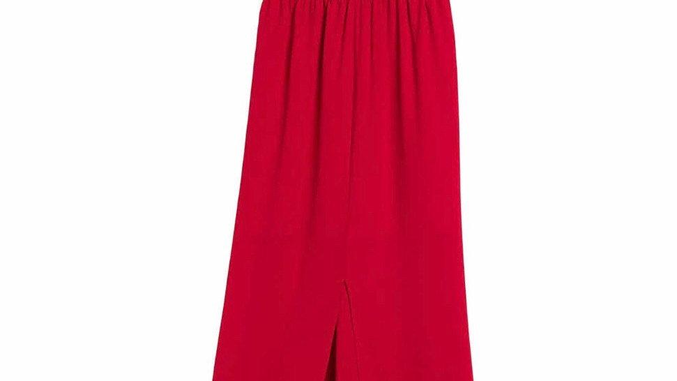 Socialite Lace Trim Split Hem Maxi Dress NWT