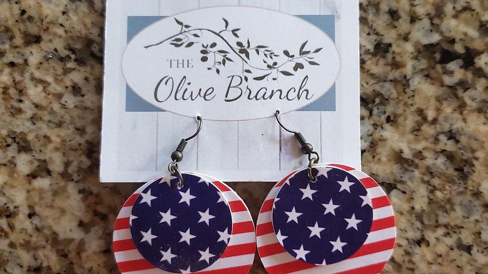 Patriotic Dangle Handmade Earrings NEW