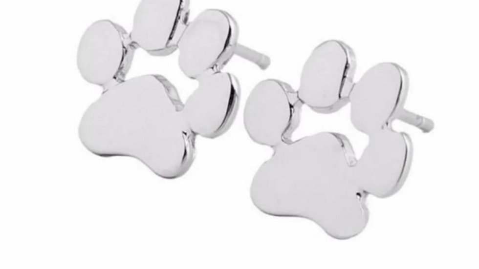 Paw Print Stud Earrings NWT