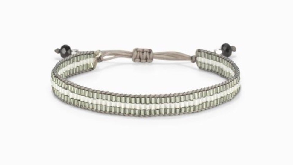 Stella & Dot French Pulley Bracelet Silver NIB