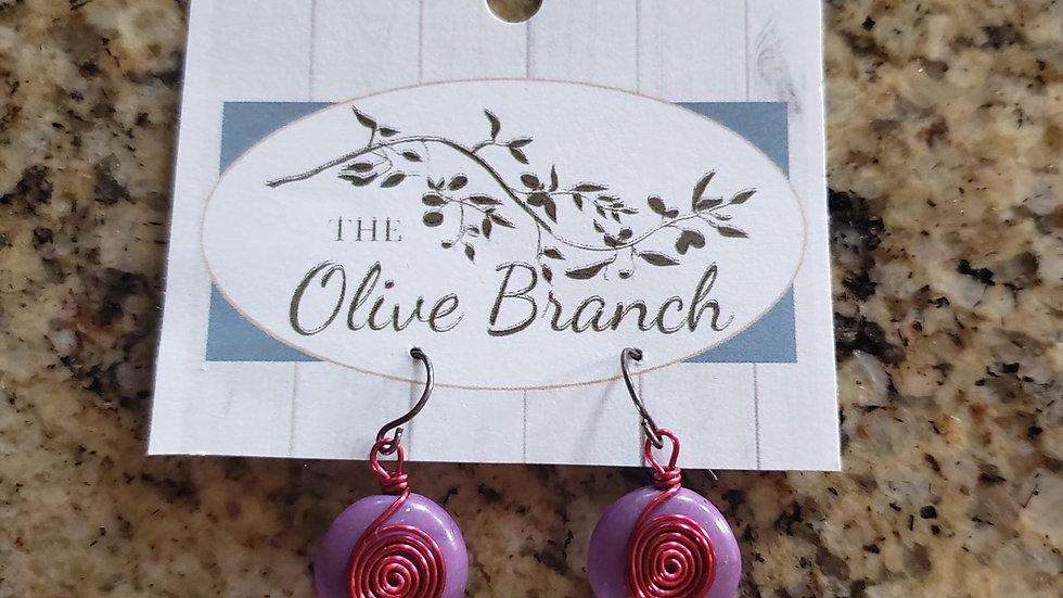 Olive Branch Handmade Dangle Earrings NEW