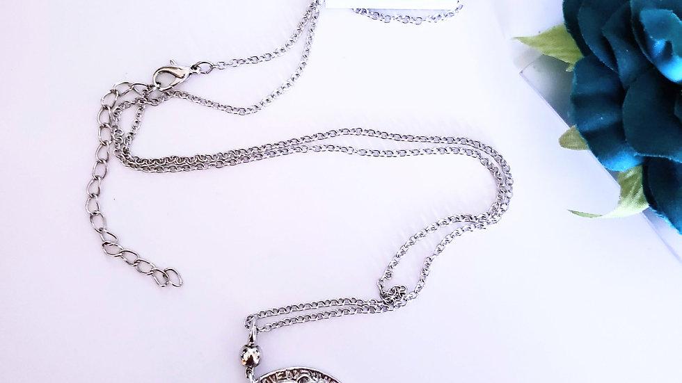 Silver Pendant Fashion Jewelry Set NEW