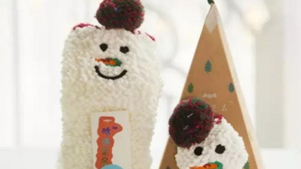 Kids Snowman Sock Ornament NWT