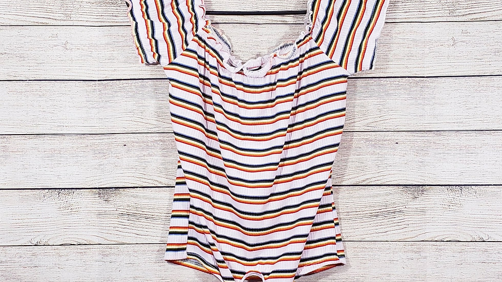 Rue21 Striped Front Tie Tee NWT