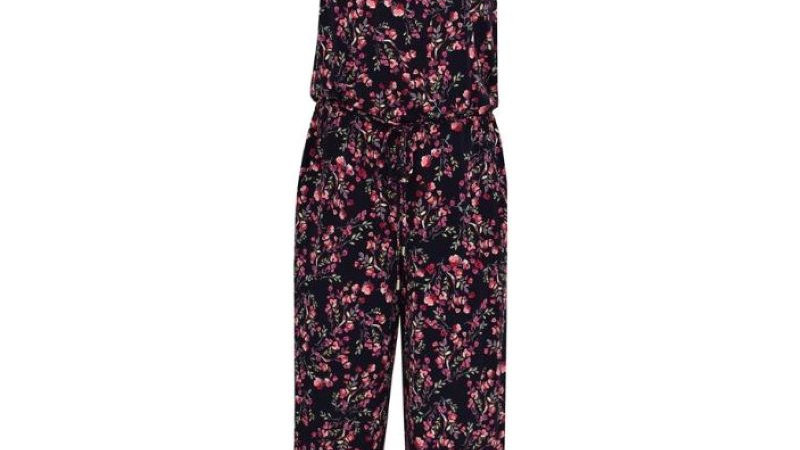 London Times - Spring Buds Sleeveless Jumpsuit NWT