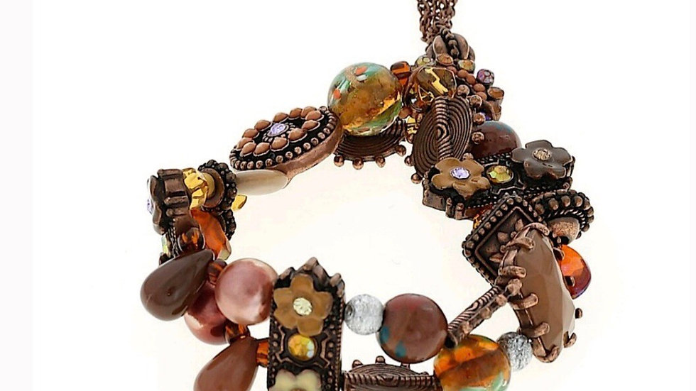 Antiqued Charm Stretch Bracelet