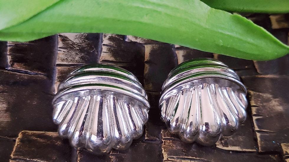 Retro Silvertone Earrings