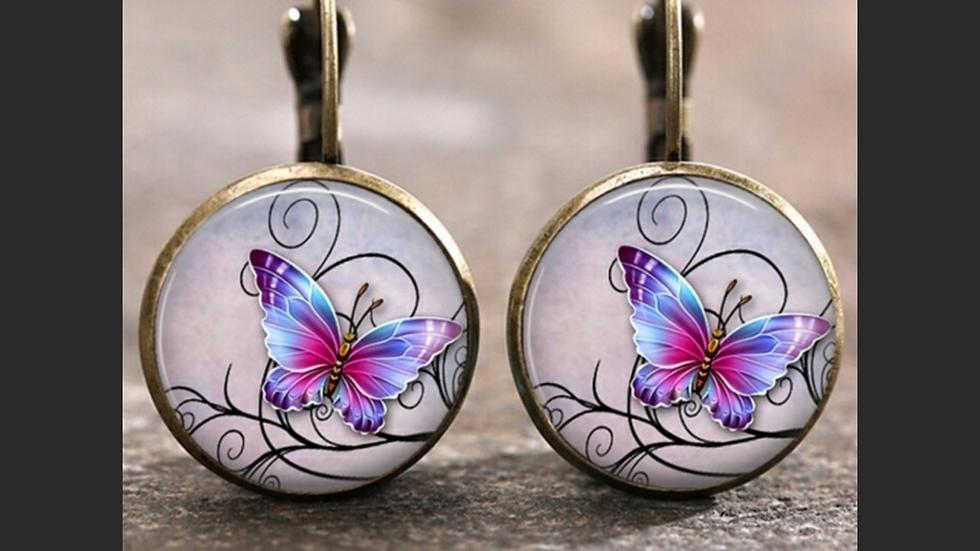 Bronze Butterfly Dangle Fashion Earrings NEW