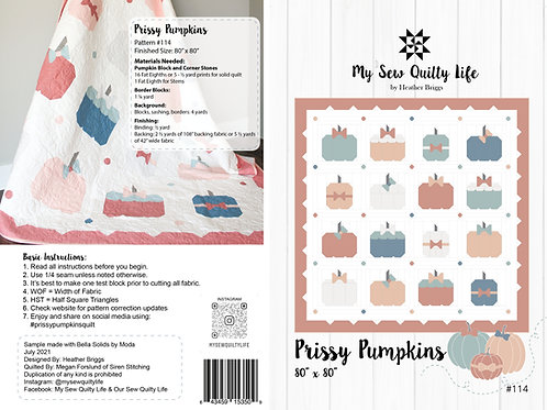 Prissy Pumpkins Quilt Paper Pattern