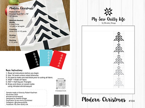 Modern Christmas Quilt PDF Pattern